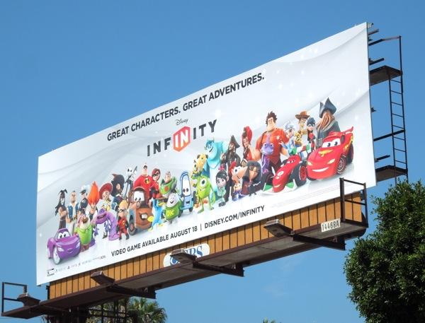 Disney Infinity game billboard ad