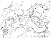 Gambar Sketsa Tokoh Kartun Manga Inuyasha