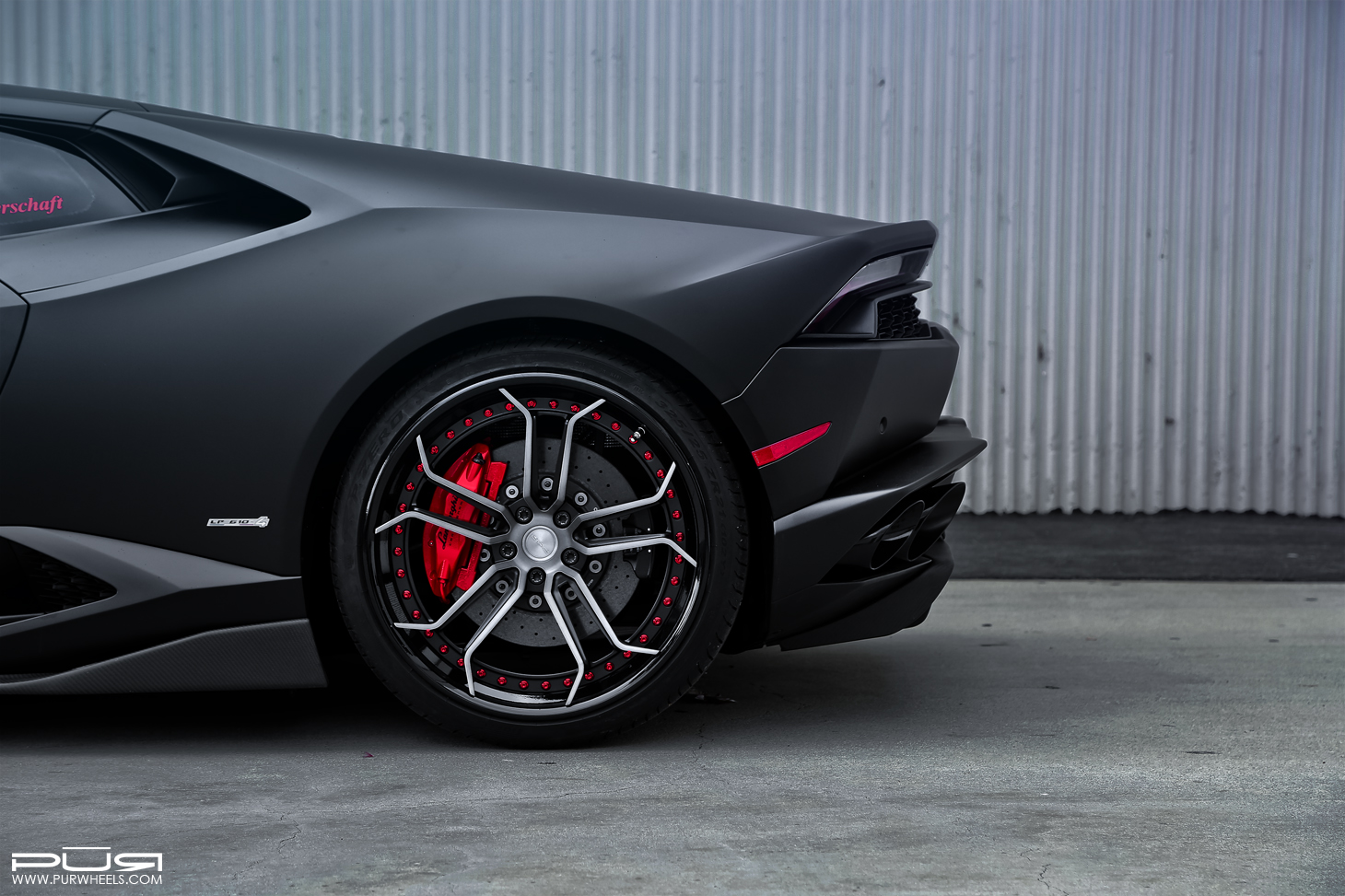Stealthy Lamborghini Huracan Sits On Custom Pur Wheels