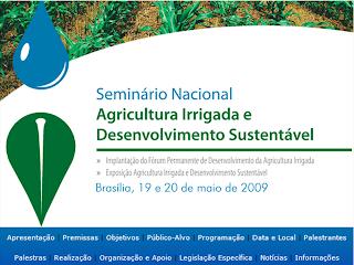 Palestras do I Seminário Agricultura Irrigada e Desenvolvimento Sustentável