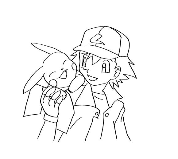 Line Art Media Design : Open line art pokemon and ash shyndee media design