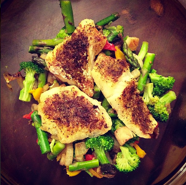 Amber michelle fit eat clean easy stir fry and fish for Cleanest fish to eat