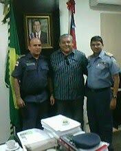 Cel PM Almir David, Cmt Geral da PMAM, Ten Cel PM Pacheco, Vice-Presidente e Cel Herbert Ch EMG