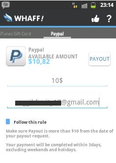 Cara Gampang Mendapatkan Uang Dari HP Android Menggunakan Aplikasi Whaff Rewards