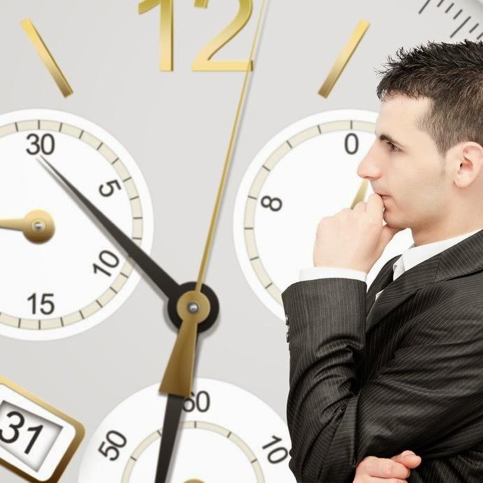 biznesmen i zegary