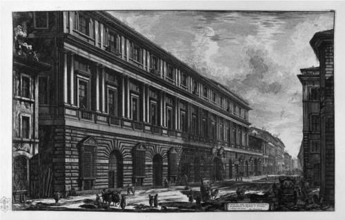 View of Via del Corso by Giovanni Battista Piranesi