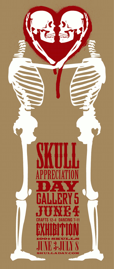Skull Appreciation Day exhibition poster