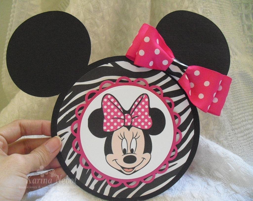 Tarjetas de animal print de Minnie Mouse - Imagui