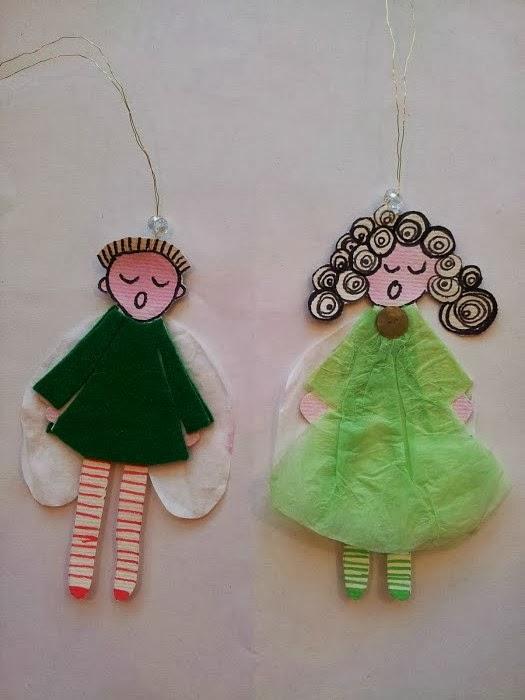 Sådan laver du små engle til jul. DIY