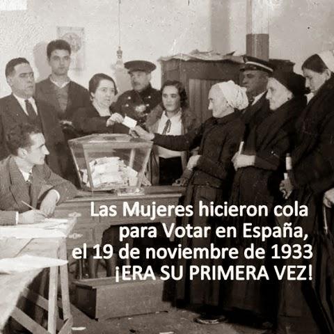 1 sufragio femenino espana: