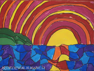 warm and cool colour landscape art project for kids