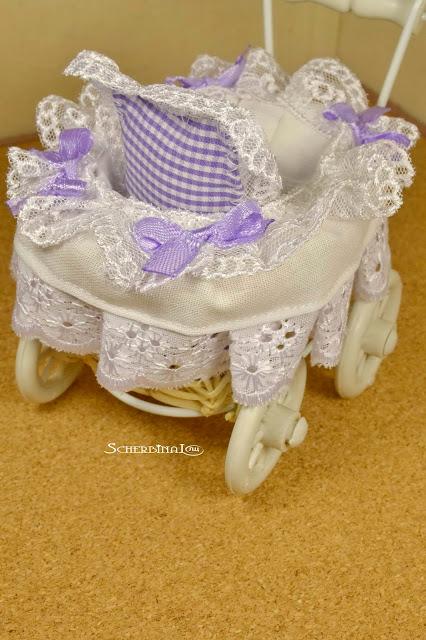 коляска для куклы в ретро стиле