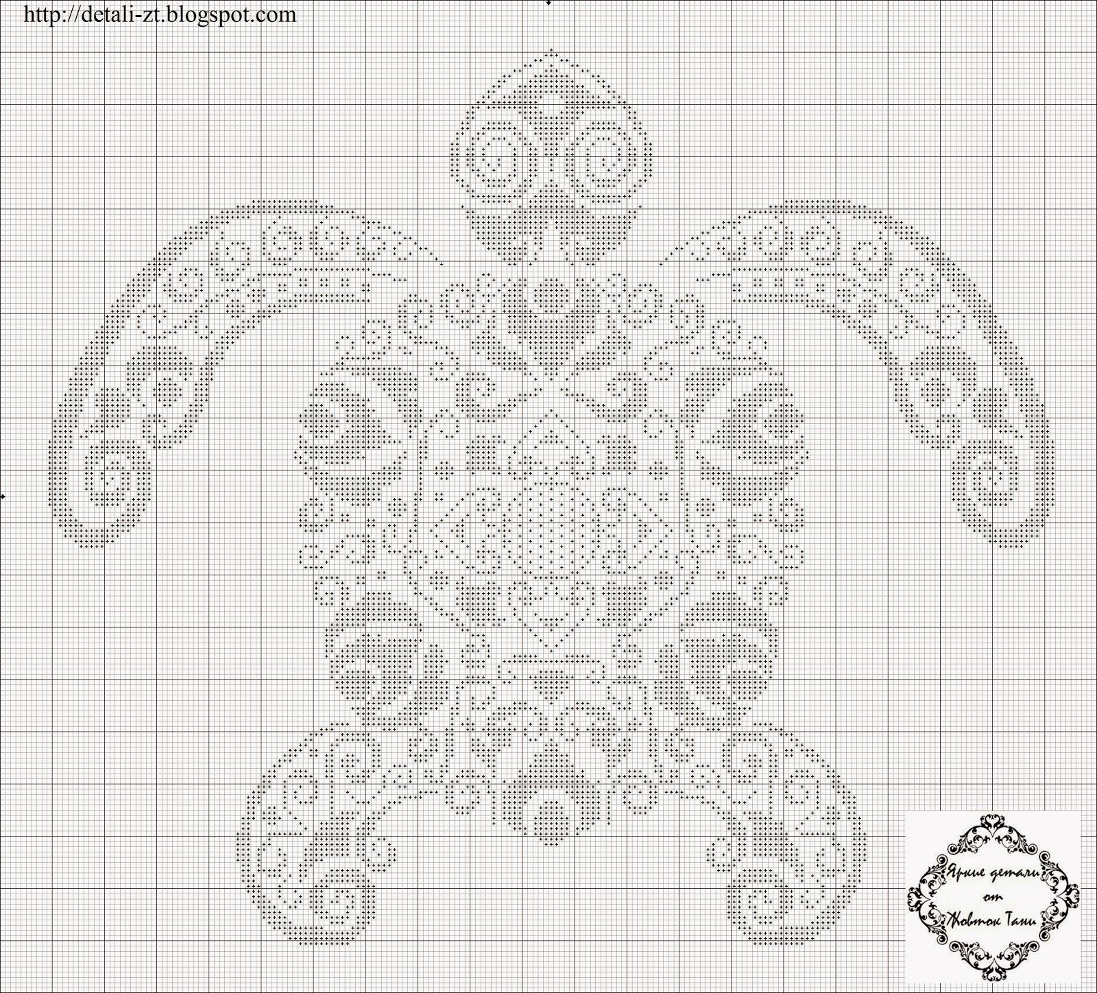 Схема для вышивки крестом черепаха