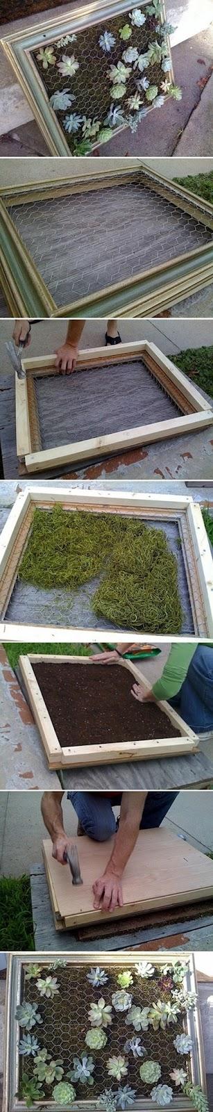 how to make succulents in a frame, DIY succulents, hur man gör en succulenttavla, tavla med succulenter, vertical garden for succulents