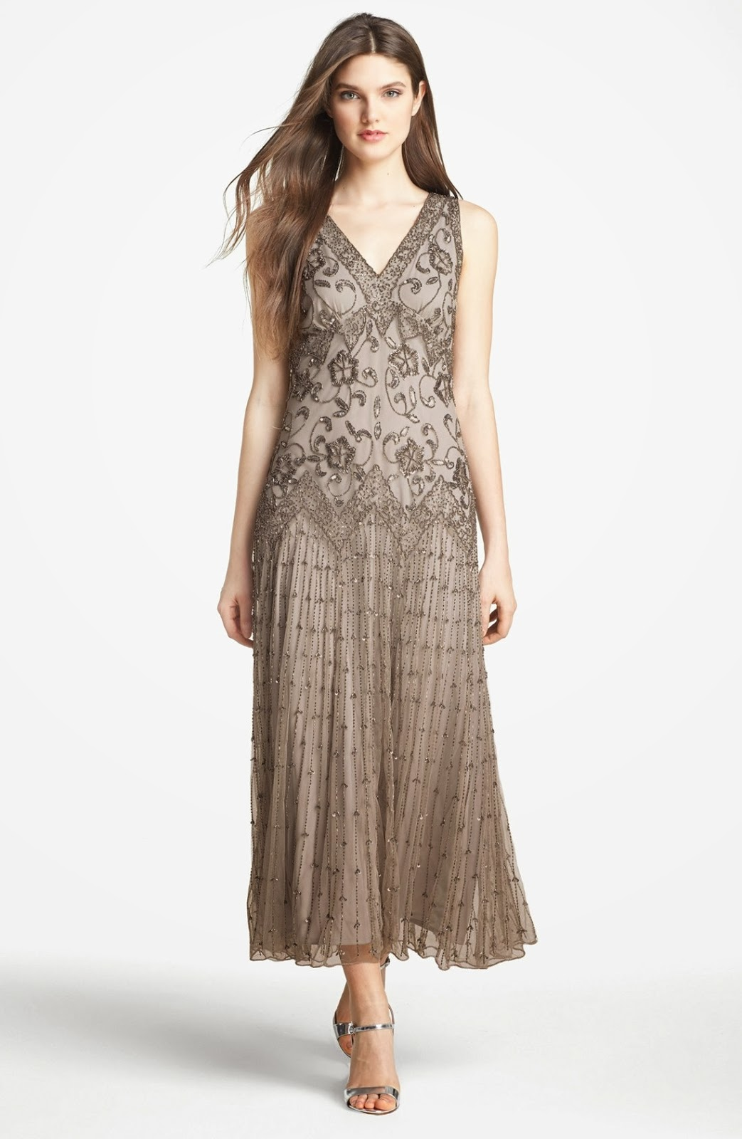 Pisarro Nights Beaded Mesh Gown from Nordstrom   Pageant Wardrobe ...