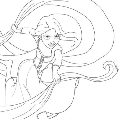 coloriage princesse raiponce - Amazon DISNEY PRINCESSES COLORIAGE AVEC