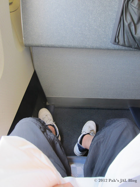 Legroom of seat 7A in AA 767-200 business class