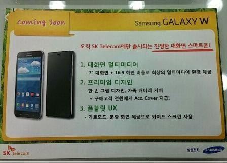 Tablet Galaxy W muncul disitus disitus Korea, aspek rasio layar 16:9