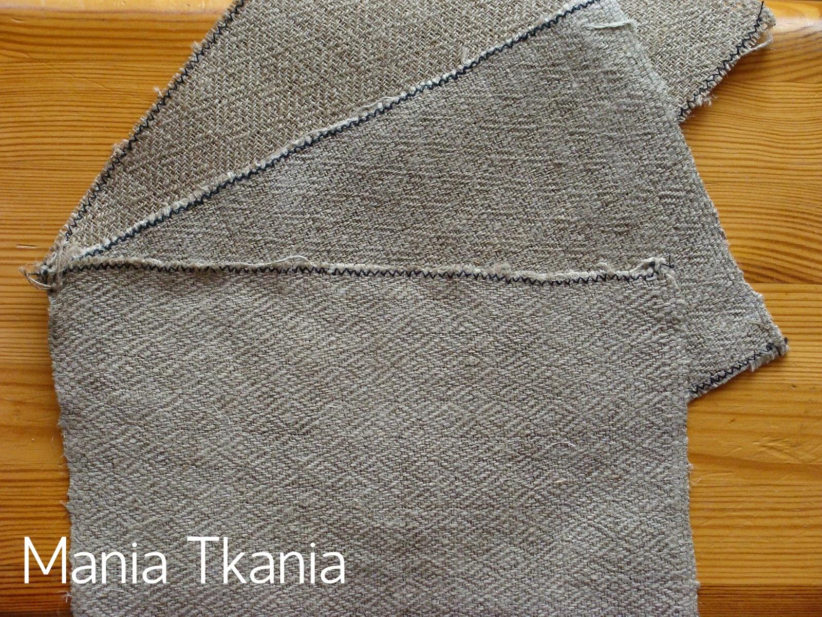 ręcznie tkana tkanina lniana