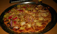 Camp Holiday Tuna Pineapple pizza