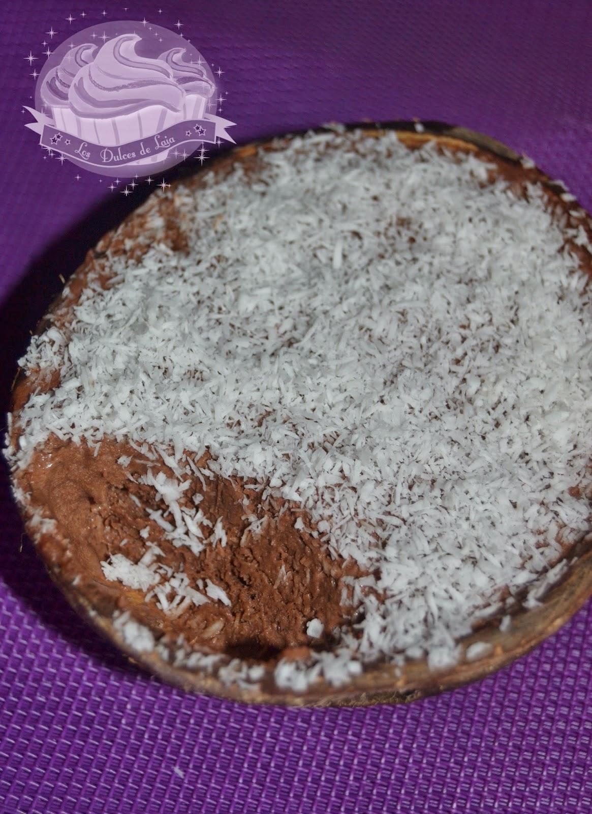 Textura del helado de chocolate y coco