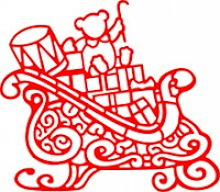 Santa's Sleigh die cut will look great on your Christmas cards, scrapbook pages or other projects!