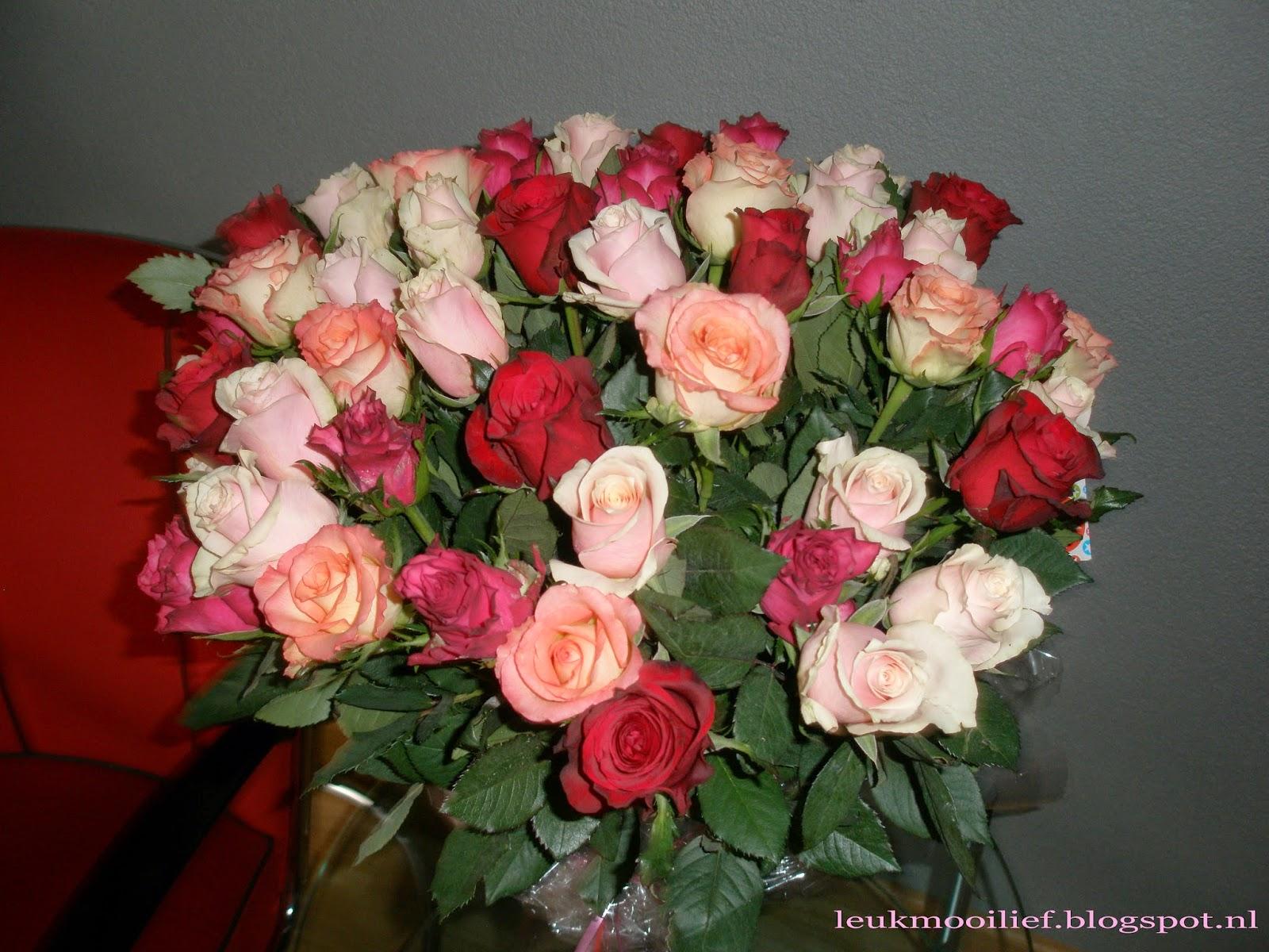 Leuk mooi lief: romantische rozen boeketten