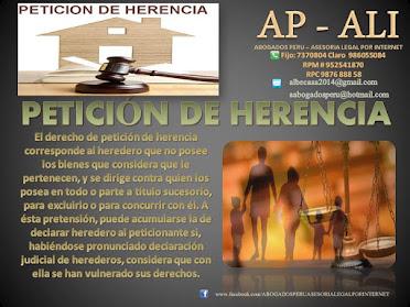 PETICIÓN DE HERENCIA , ASESORÍA LEGAL, ABOGADOS DE FAMILIA.