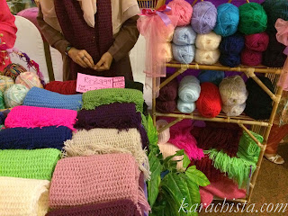 scarves at the Crafter's Expo Karachi