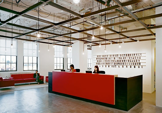 Decor lust getting exposed exposed ceilings for Commercial office space design ideas