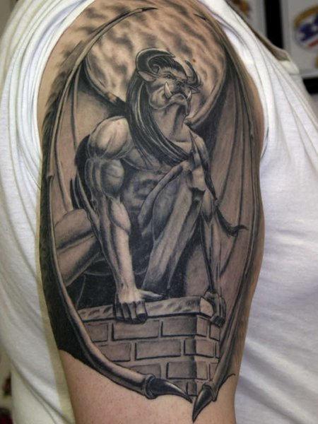 25 tattoo designs gargoyle tattoos. Black Bedroom Furniture Sets. Home Design Ideas