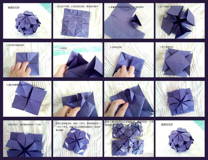 DIY- Tutorial Cara Membuat Origami Love Ball