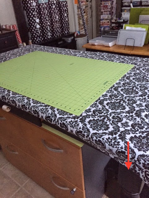 vinyl covered sewing table