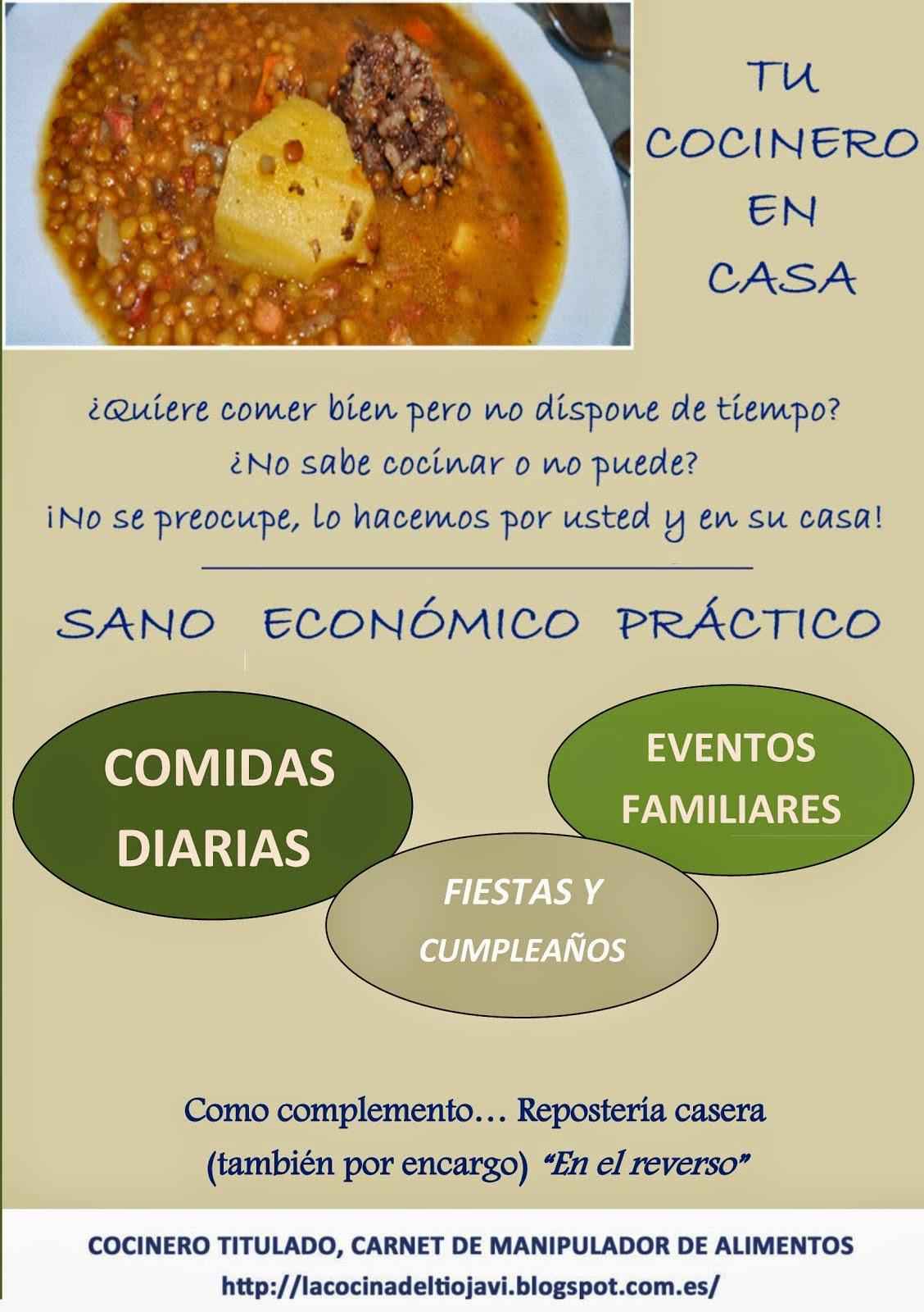 TU COCINERO EN CASA