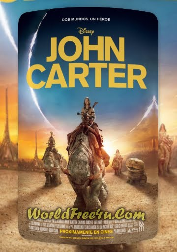 Poster Of John Carter (2012) Full English Movie Watch Online Free Download At worldfree4u.com