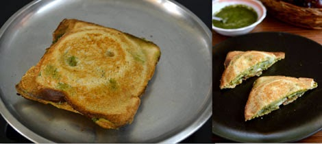 Mumbai style vegetable sandwich recipe