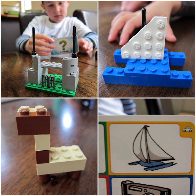 LEGO Creationary makings - yacht, giraffe, jail