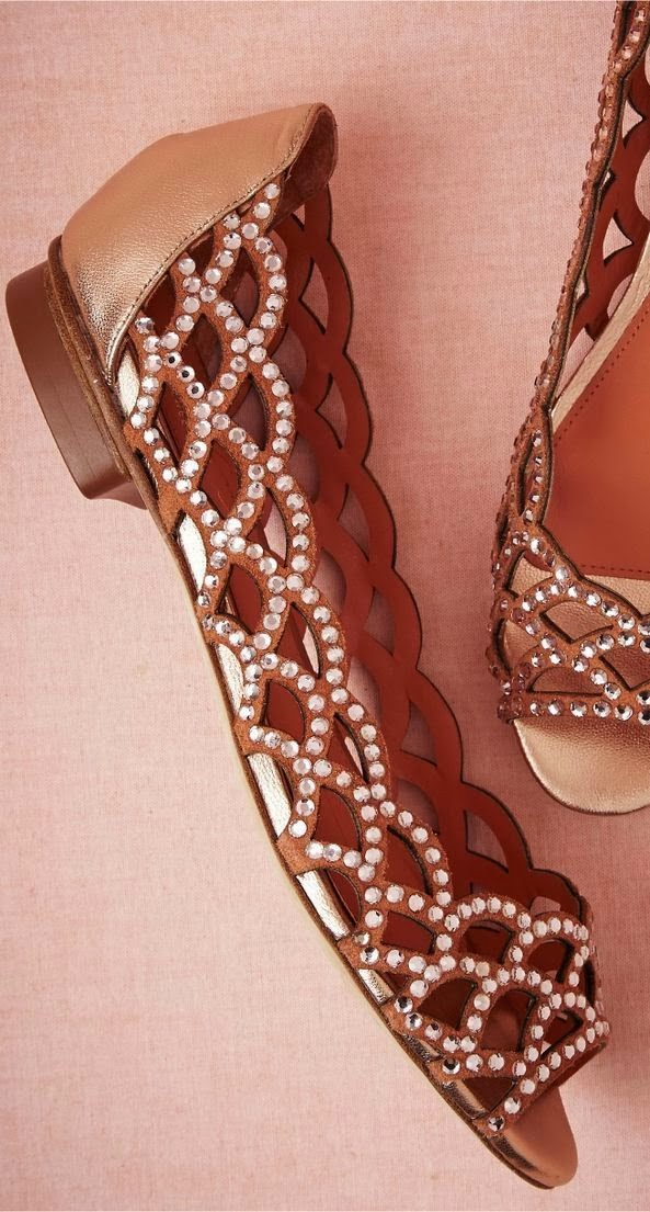 Amazing Brown Flats with Embroidered Detail for Spring