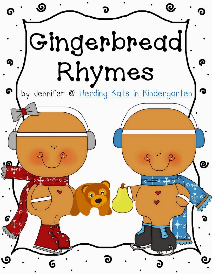 Next, a flash freebie for the next 2 hours! My new Gingerbread Rhymes pack! I had to use these adorable little gingies and what better way than with some rhyming practice! Go grab it now and remember to leave some feedback love!