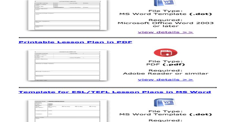Some Excellent Lesson Plan Templates for Teachers