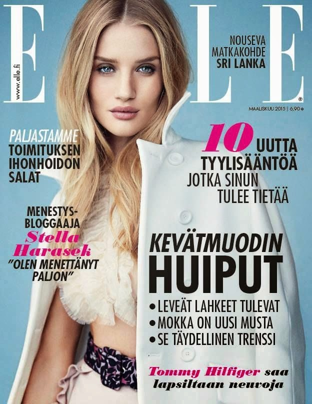 Model, Actress: Rosie Huntington-Whiteley for Elle Finland