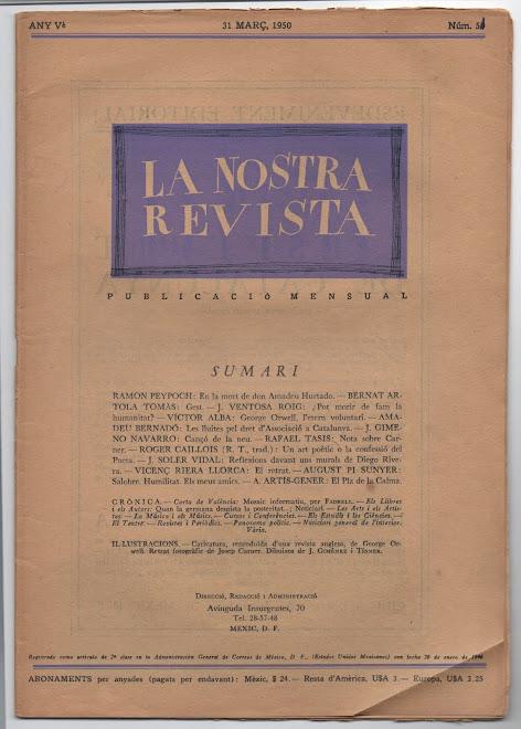 La Nostra Revista, Mèxic 1950