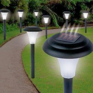 Solar Lamps - Garden Creations JB5629 Solar-Powered LED Accent Light, Set of 8