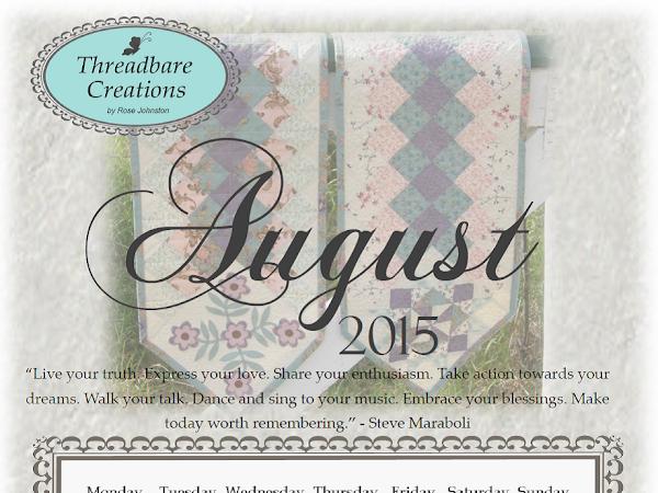 Free August Calendar