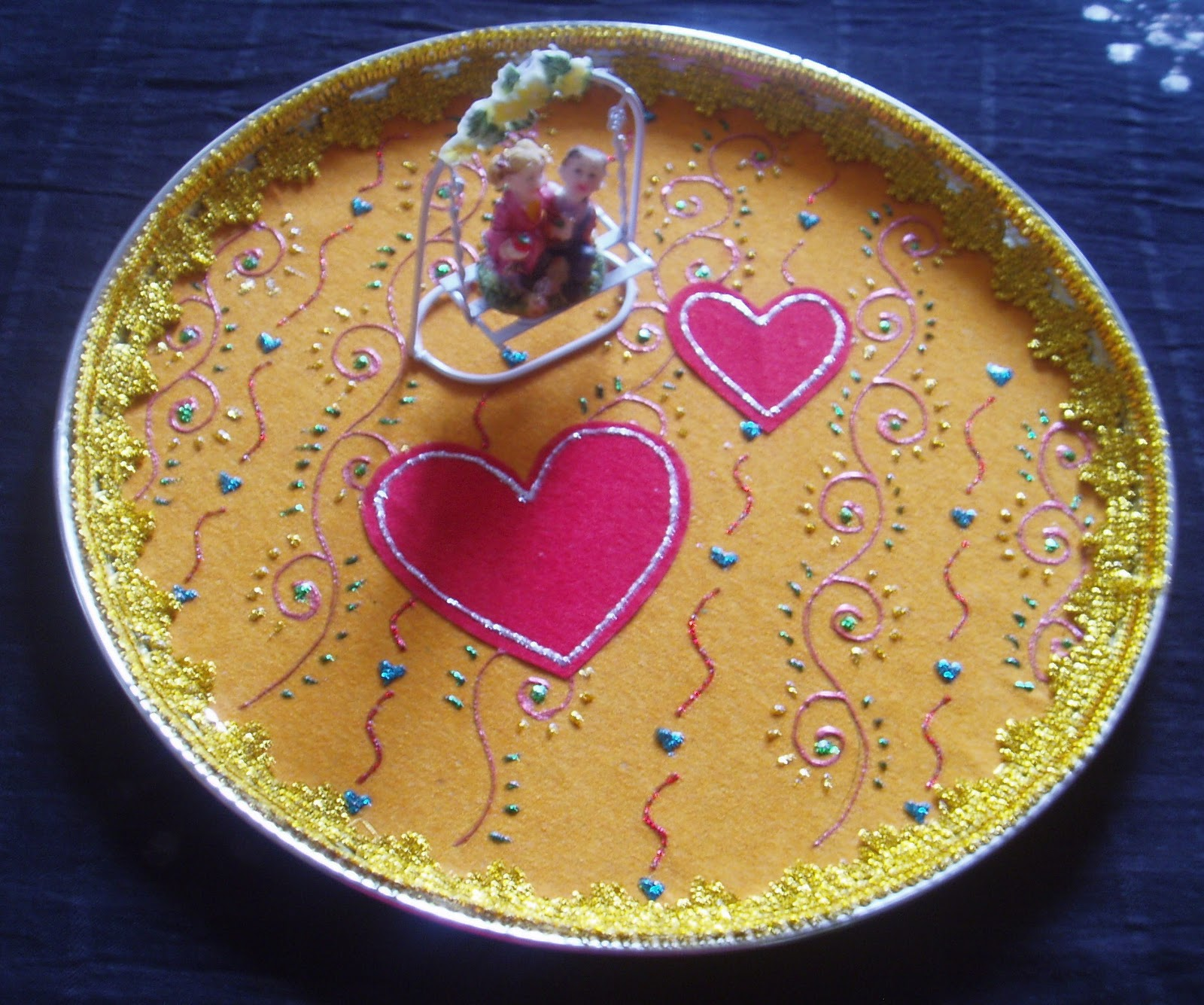 Easy crafts explore your creativity aarti plate designs for Aarthi plates decoration