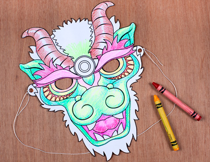 2012 Is The Year Of Dragon Your Guests Will Love To Decorate A Mask Their Own Family Fun Magazine Has Perfect Printable For This Party