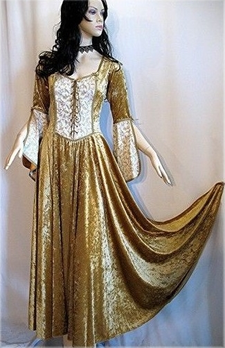 Midevil Dresses Gold