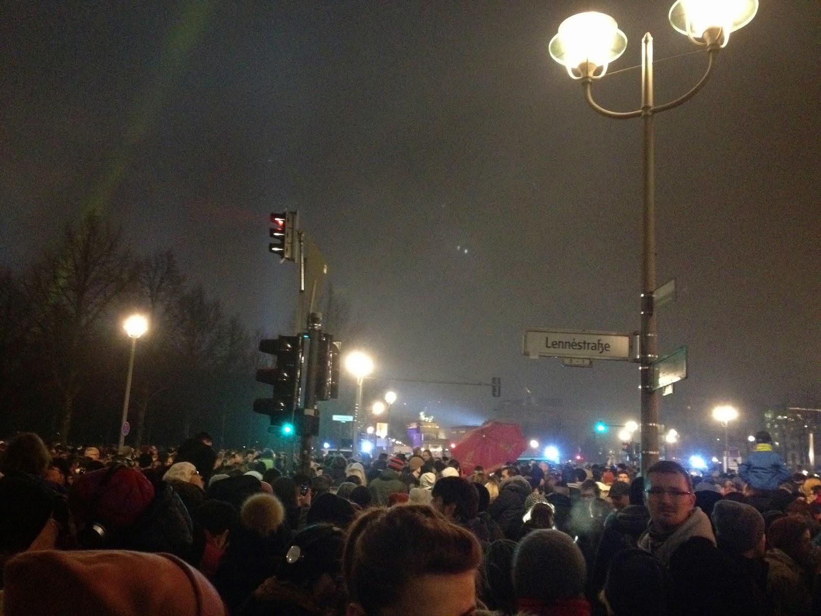 Suasana Tahun Baru di Sekitar Brandenbur Tor, Berlin