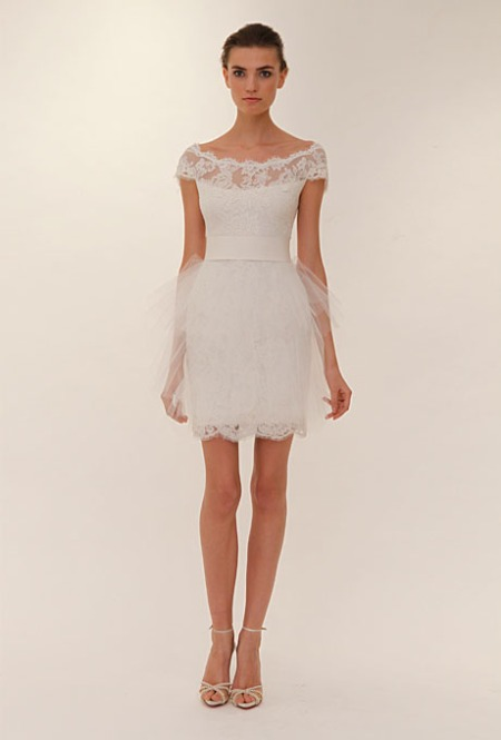 The dream wedding inspirations marchesa new york bridal for Short wedding dresses 2012