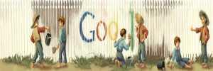 Mark Twain doodle de Google Mark Twain logo de Google 30 de noviembre